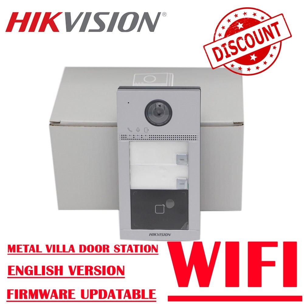 Hikvision الجرس 2MP HD DS-KV8213-WME1 بو 2 أزرار فيديو إنترفون وحدة باب محطة باب الهاتف
