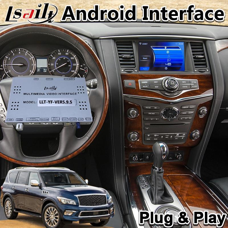 Interfaz de vídeo Multimedia Android para Infiniti QX80 / QX60 / QX56/Q70, Año 2014-2017, navegación por GPS para coche con 3GB de RAM, T7 CPU