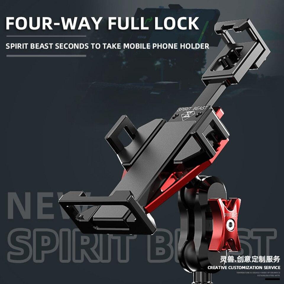 Spirit Beast-حامل هاتف خلوي عالمي للدراجات النارية ، ملحق ملاحة مقاوم للصدمات ، متوافق مع YAMAHA و Suzuki و HONDA و BMW