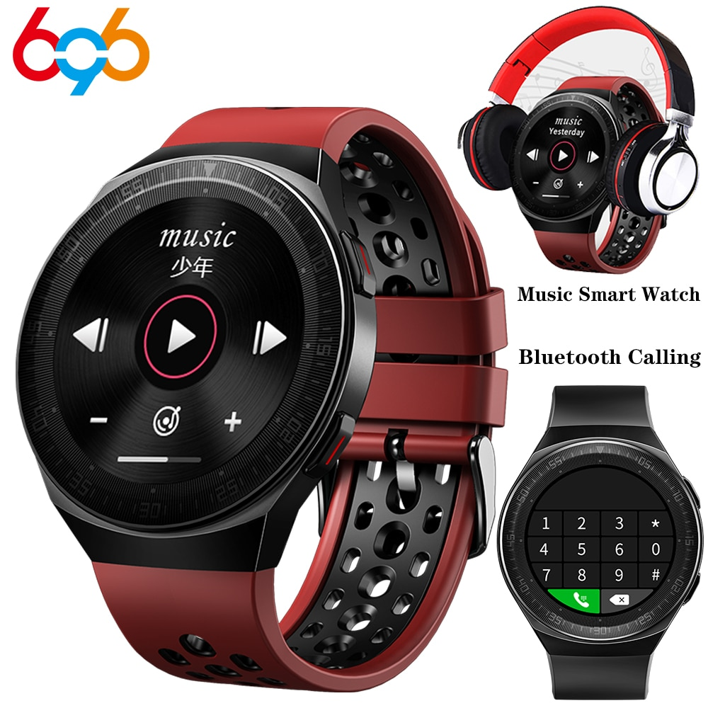 MT3 الموسيقى الذكية ووتش 8G الذاكرة الرجال مكالمة بلوتوث تعمل باللمس الكامل للماء تسجيل وظيفة MT2 MT-3 الأزياء Smartwatch