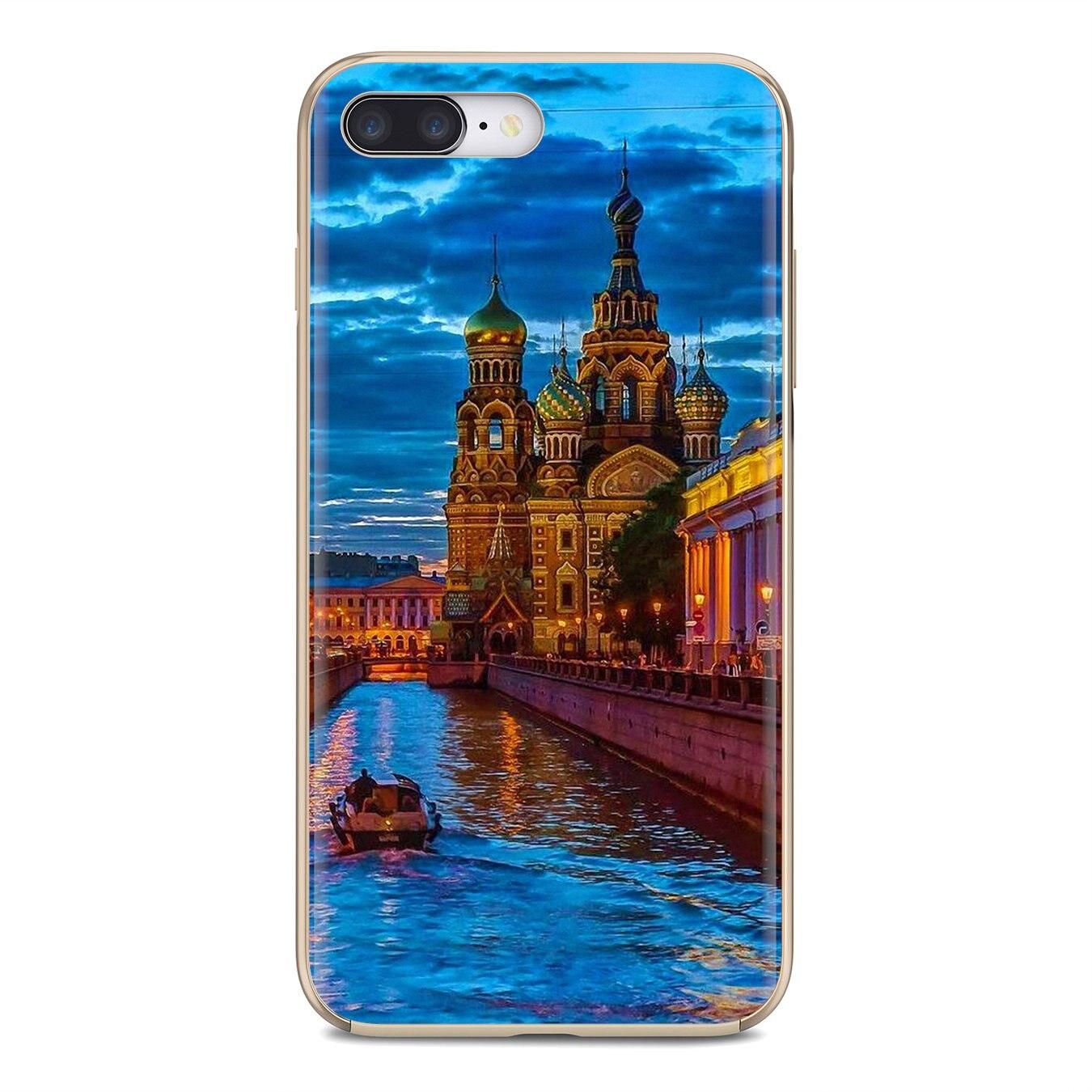 Funda de silicona para Huawei Mate Honor 4C 5C 5X 6X 7 7A 7C 8 9 10 8C 8X 20 Lite Pro de San Petersburgo
