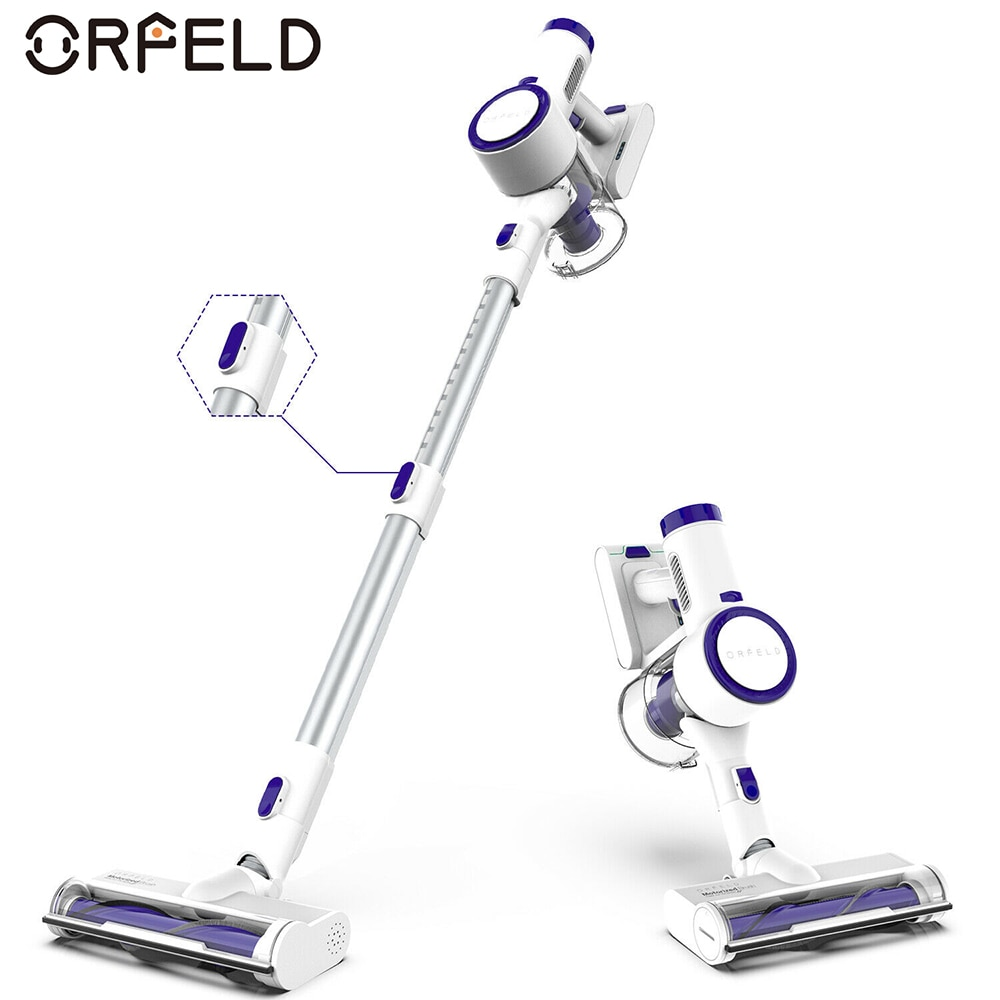 Orfeld مكنسة كهربائية لاسلكية محمولة باليد فراغ 18KPa شفط قوي مع 200 واط محرك رقمي تنظيف الأجهزة المنزلية