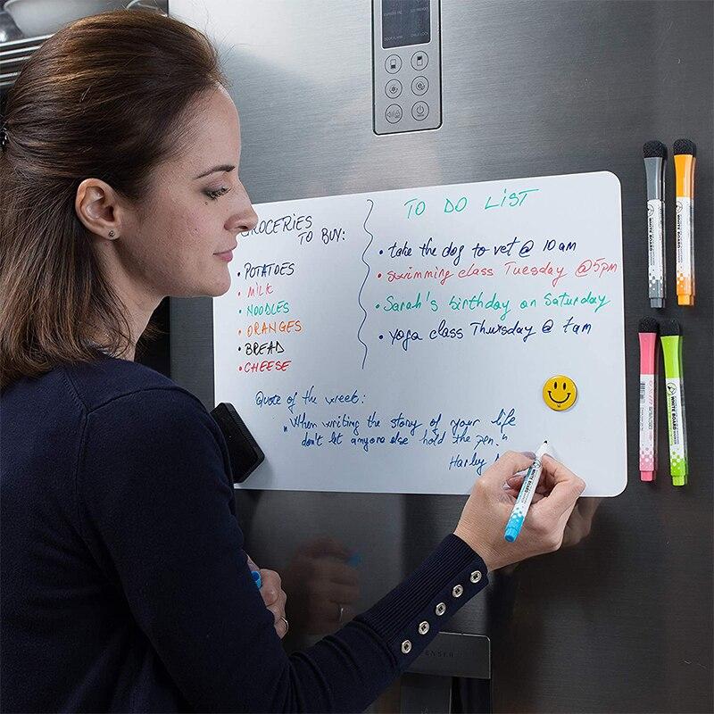Магнитная белая доска мягкой стирающейся от маркера доска магнитные наклейки на холодильник A3 Размеры сообщения Memo рисования практика зап...