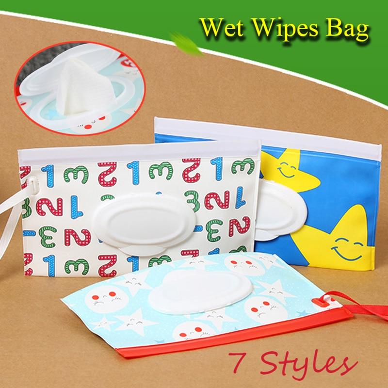 Toallitas húmedas fáciles de llevar, bolsa con correa de ajuste, bolsa para cosméticos, toallitas de limpieza, estuche para almacenamiento, toallitas húmedas, bolsa de almacenaje de pañuelos, caja