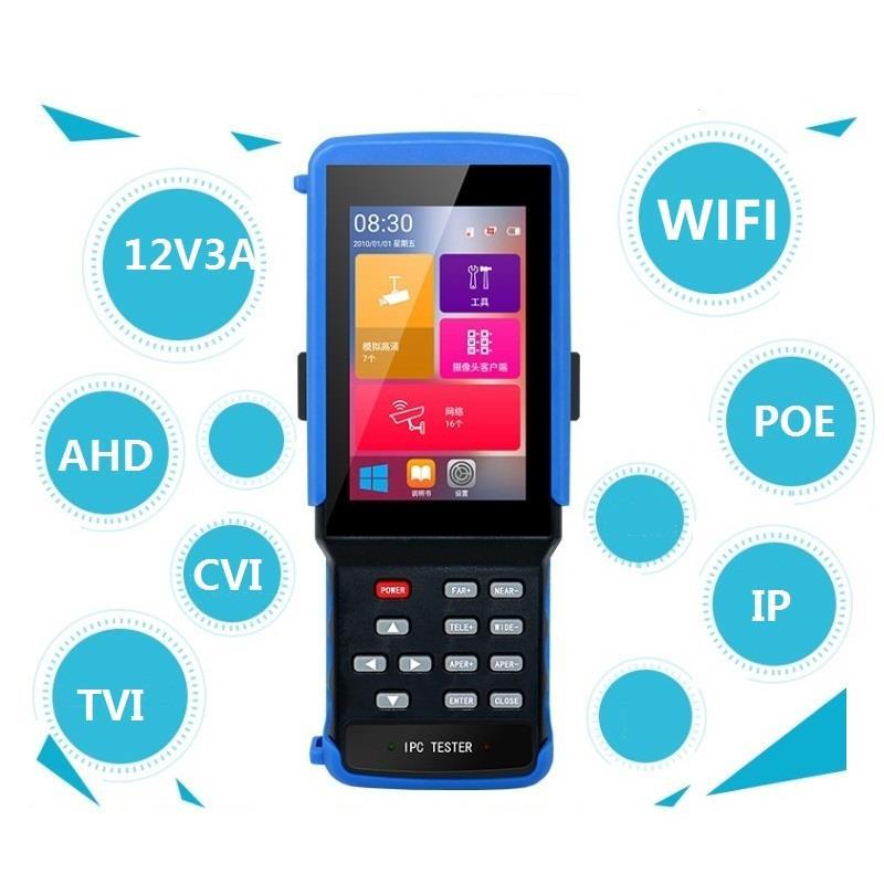 ipc 9310 poe wifi 4 3 5 in one touchscreen cctv tester for ipc analog camera ipc 1080p ahd cvi tvi bnc network cable tester IPC 9310 wifi 4.3'' 5 in one Touchscreen CCTV Tester for IPC/Analog Camera,IPC 4K 8MP, AHD,CVI,TVI,BNC Network Cable Tester