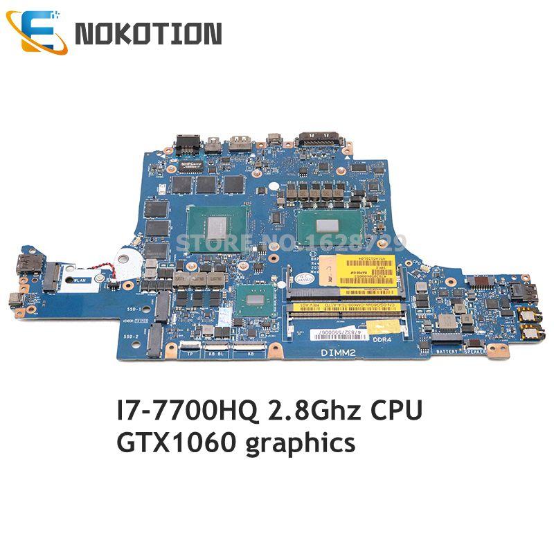 NOKOTION لديل من Alienware 13 R3 اللوحة المحمول 13.3 بوصة I7-7700HQ CPU GTX1060 CN-0GG6GW 0GG6GW GG6GW BAP00 LA-D581P