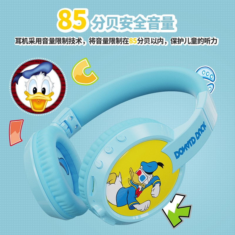 2021 Disney Children's Bluetooth Headset Donald Duck Mickey Children's Learning Earphones Hearing Protection Wireless Earphones enlarge