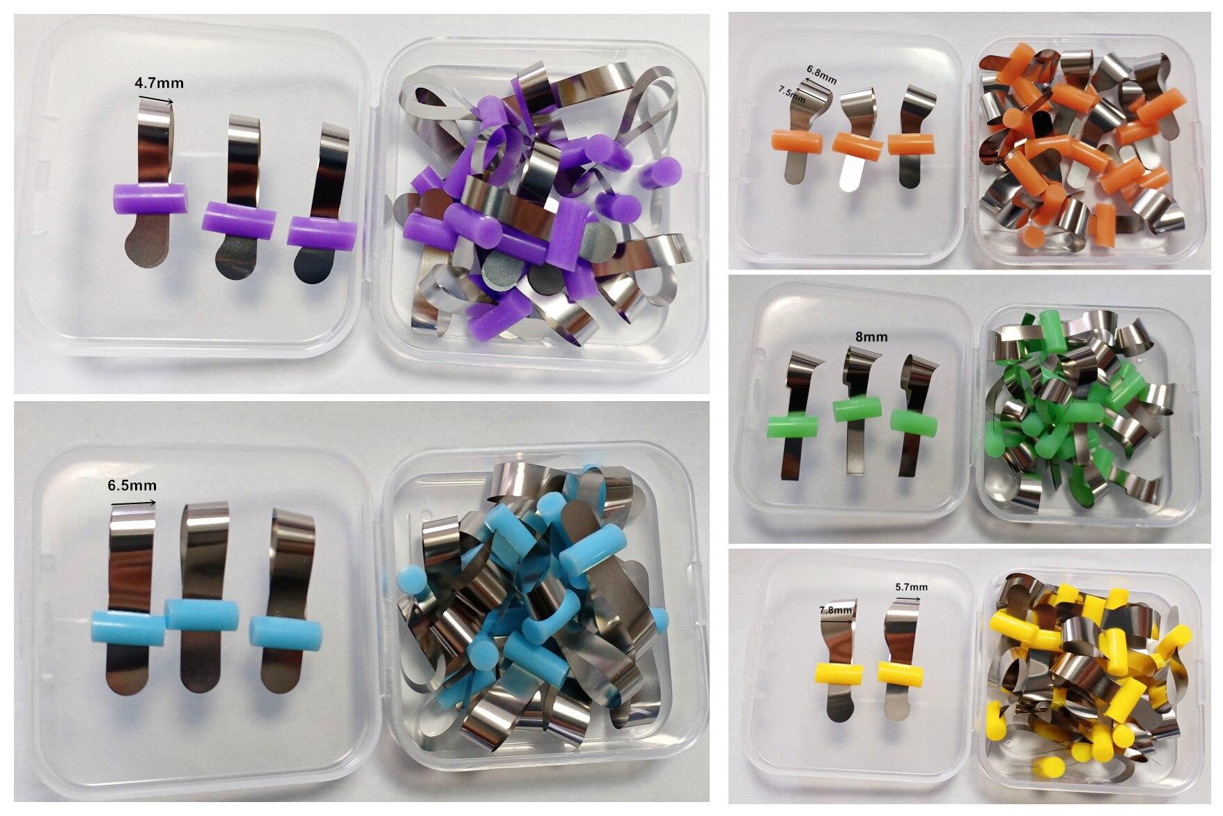 20pcs/Lot Dental Matrix Band Tofflemire Matrice Stuck SS Rubber Retainer Preformed Composite Forming Sheet