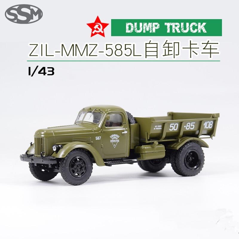 Liga collectible brinquedo modelo presente 143 escala união soviética russo ssm ZIL-MMZ-585L construção caminhão basculante modelo de exibição