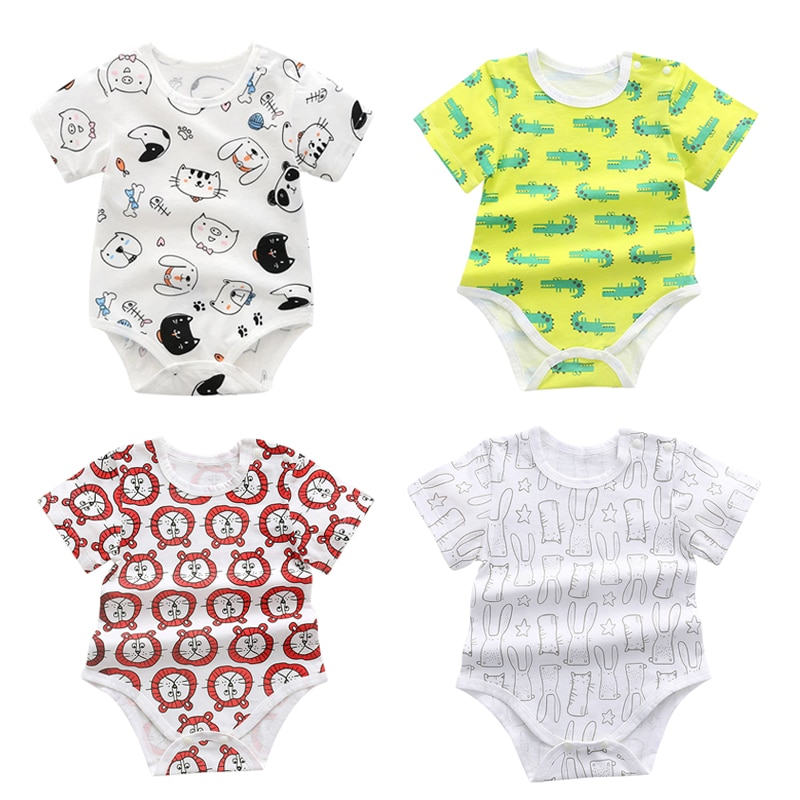 2/3PCS Baby Romper Newborn Gift Cotton Baby Summer Boy Girl Clothes Crawling Toddler Jumpsuit Infant Onesie Clothing