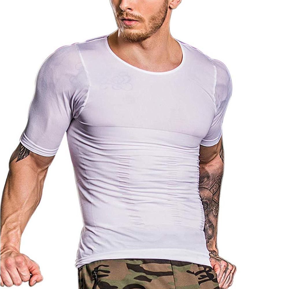 Mens Slimming Shaper Posture Vest Belly Abdomen Weight Loss Corrector Compression Body Building Fat Burn Chest Tummy Shirt