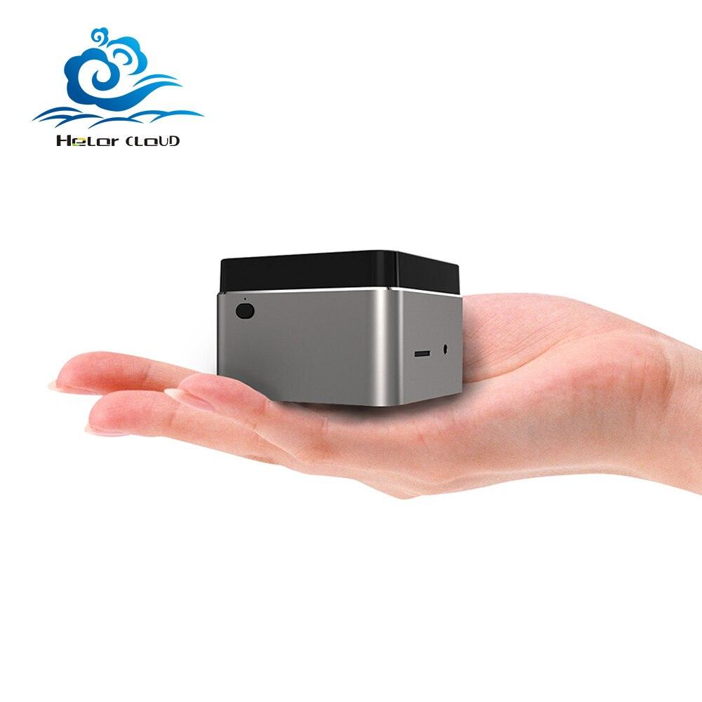 Portable Mini PC HTPC Intel Celeron N4100 Quad-Cores Cooling Fan Inside 2.4G/5G WiFi Bluetooth 4.2 M.2 SSD Windows 10 4K HD