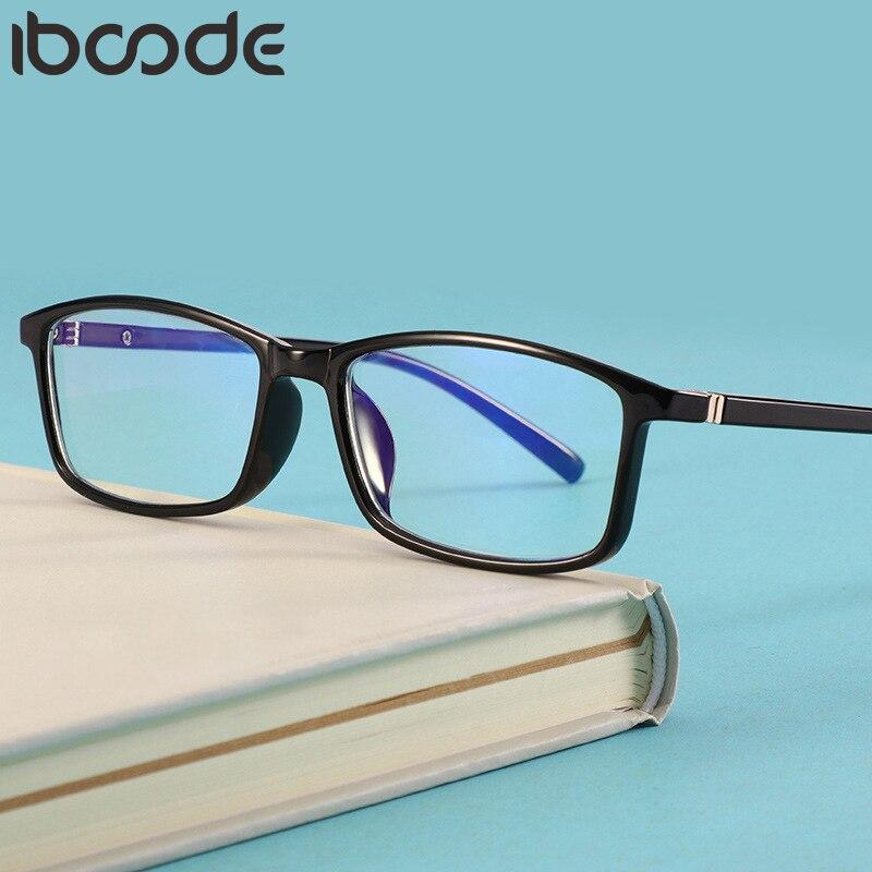 Iboode terminou miopia óculos mulher homem anti azul luz prescrição óculos diopter 0 -1 -1.5 -2 -2.5 -3 -3.5 -4.0 eyewear