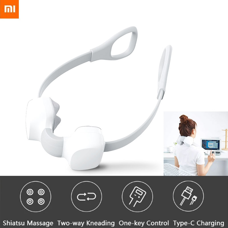 2020 new Xiaomi Mini neck massager enjoy one touch massage switch adjustable two-way kneading for body relaxation