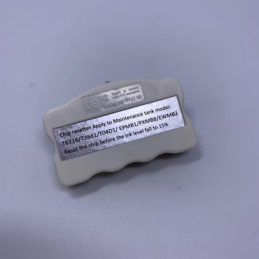 YOTAT reseteador de T6716 T3661 T04D1 EPMB1 PXMB8 EWMB2 residuos tinta de Chip de tanque de mantenimiento para Epson L6168 L6178 L6198 L6170