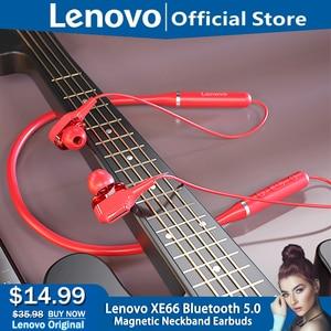 Original Lenovo XE66 Headphones 5.0 Waterproof Sports Bluetooth Earphone High Sound Quality Ultra neckband headphones