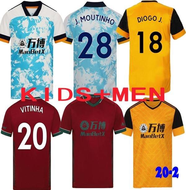 2021 Wolves Camisa de Futebol FABIO SILVA 20 21 Wolverhampton VITINHA RAUL NEVES football kit Wande