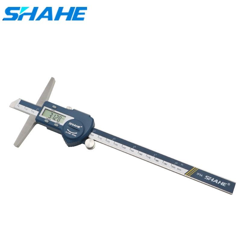 0-200 مللي متر مقياس العمق الرقمي المقاوم للصدأ العمق الرقمي الورنية الفرجار باكميترو ميكروميترو أدوات قياس
