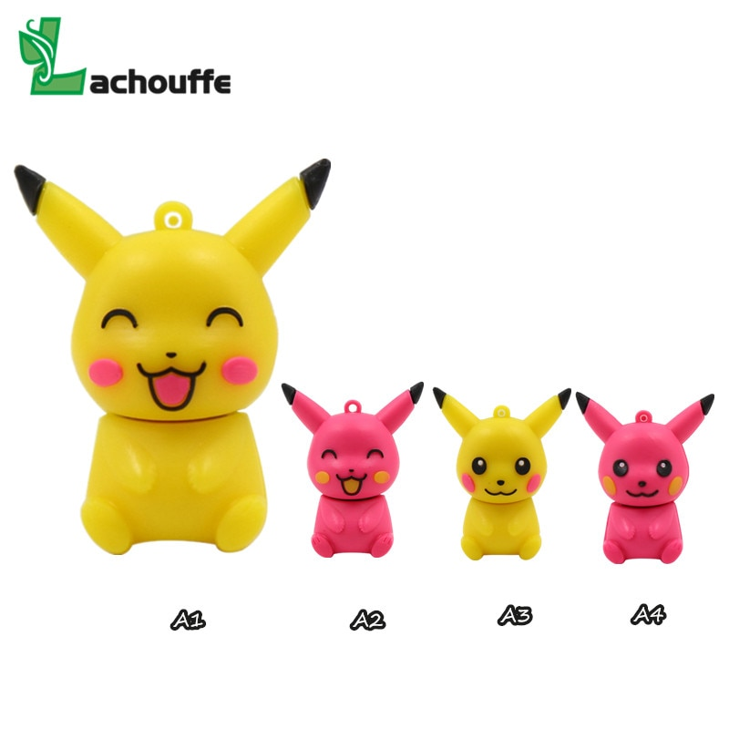 Venda quente caneta movimentação dos desenhos animados bonito pikachu pokemon pendrive 32gb 16gb 8gb 64gb usb flash drive memória vara poke bola u disco presente