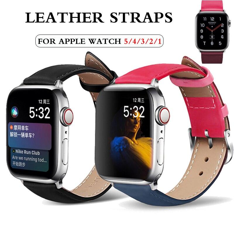 Pulseira para apple relógio de pulso banda 44mm 40mm apple watch 5 4 3 2 1 pulseira de couro clássico correia pulseira pulseira correa iwatch banda 42mm 38mm