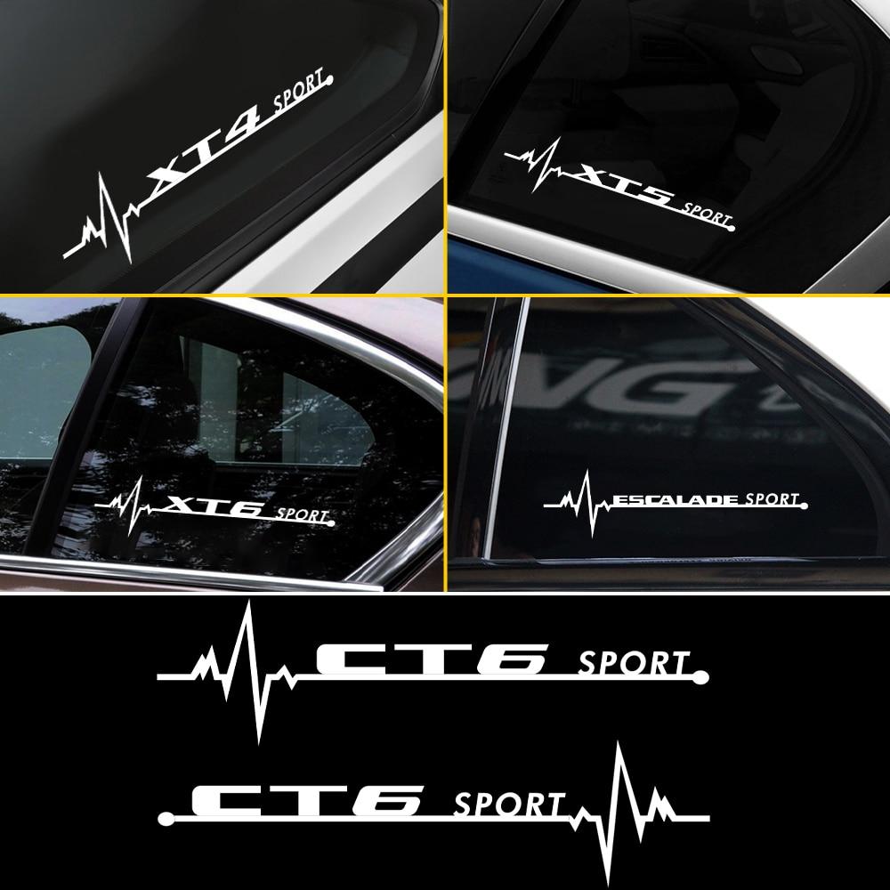 2 pçs adesivos de carro janela lateral decoração do corpo vinil reflexivo decalques para cadillac ats cts xts ct4 ct5 ct6 xt4 xt5 xt6 escalade