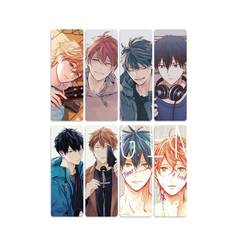 8pcs Given Bookmark Plastic Waterproof Cartoon Bookmarks Anime Products Beautiful Study Gift