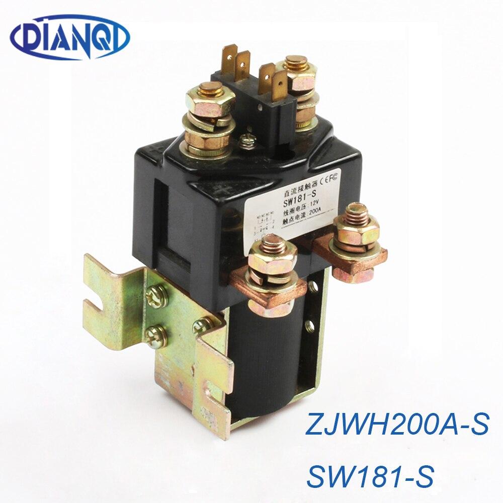 SW181-S NO + NC 12V 24V 36V 48V60V72V 200A DC Contactor ZJWH200A-S para la manipulación de carretillas elevadoras, agarre, MOTOR de la bomba del cabrestante del coche wehicle
