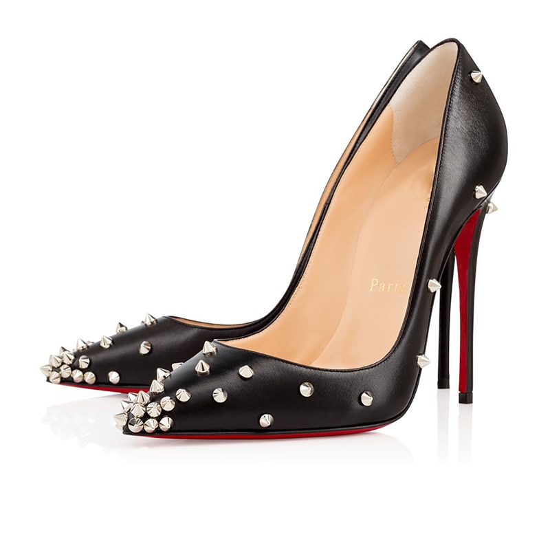 Ladies Luxury Brand Sexy Platform Women Clear High Heels 8 10 12cm Red Bottom Mules Wedding Party Dr