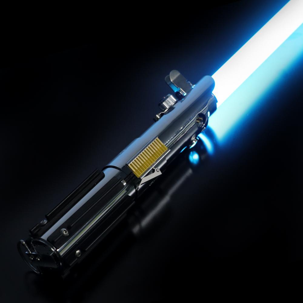 LGT Lightsaber -Graflex Luke Force Heavy Dueling Light Saber Infinite Color Changing with 9 Sound Fonts Sensitive Smooth Swing