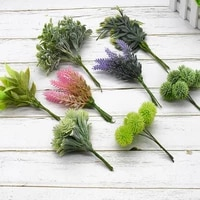 6 piece plastic floristics artificial plants for wedding christmas home decorative flower wreath diy floristics brooch box vases