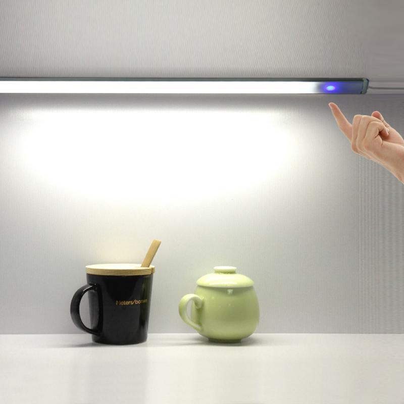 Sensor de toque led keukenkast licht lâmpada dc 5 v garderobe kast showcase boekenplank sagacidade lâmpada usb com toque schakelaar
