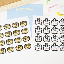 Mohamm 2 pièces série coréenne belle décoration papier autocollant créatif Scrapbooking papeterie fournitures scolaires