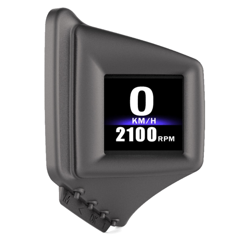 Car Head-Up Gauge, Windshield Head-up Display OBD2+GPS Dual System Multifunction HUD Display Vehicle Driving Data.