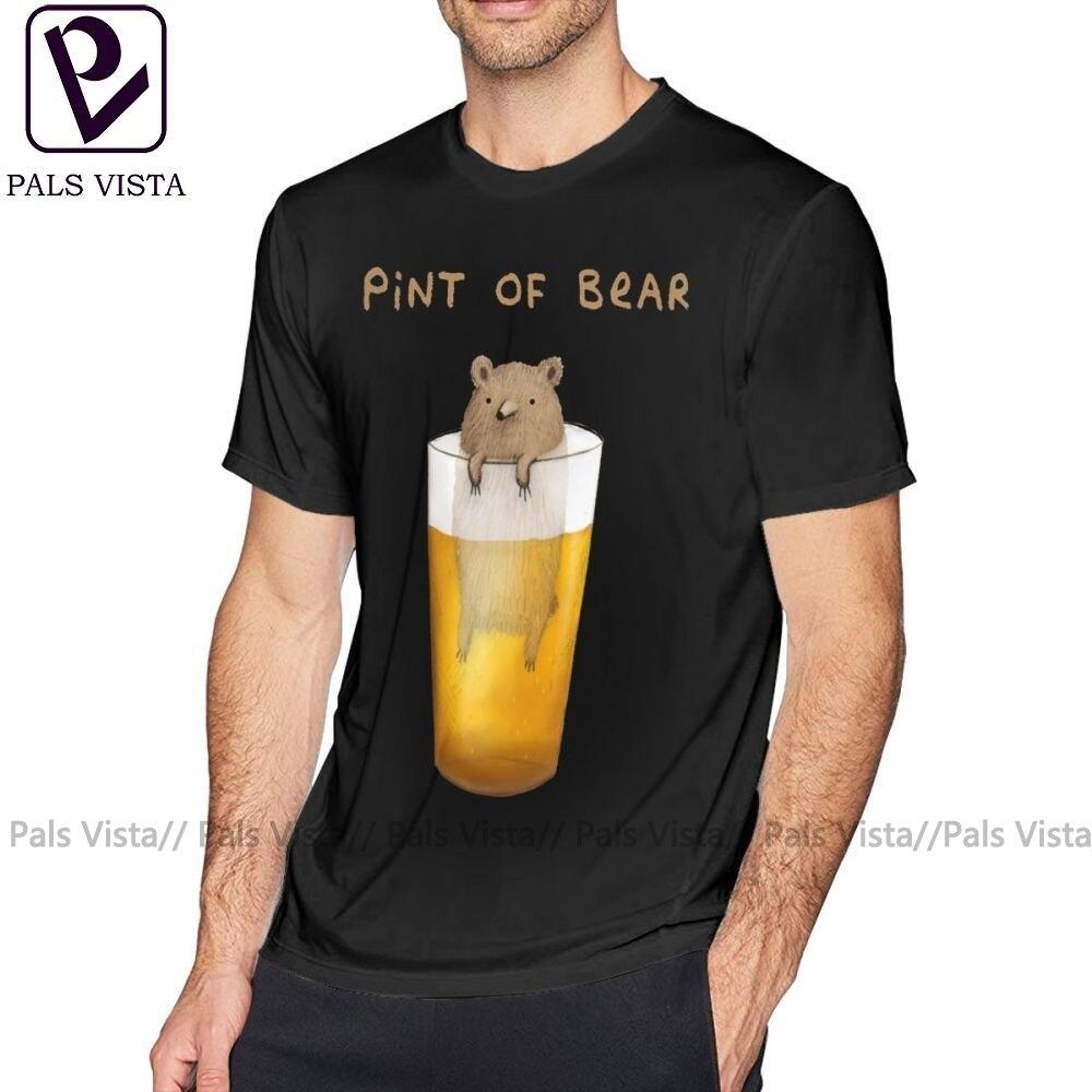 Beer T Shirt Pint Of Bear T-Shirt XXX 100 Cotton Tee Shirt Fun Short Sleeve Fashion Men Print Tshirt