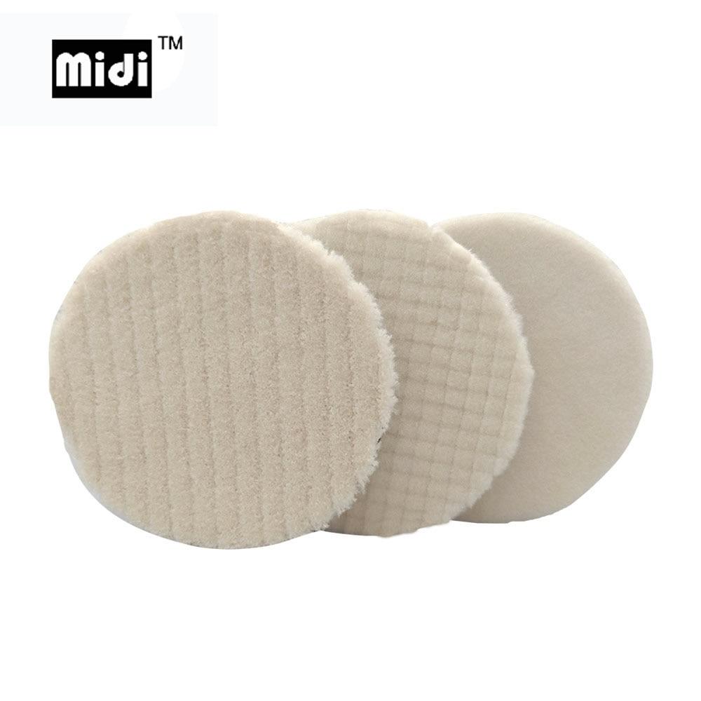 5 Inch Japan Wool Polishing Pad For Car Polisher Pad Kits Wool Finish Polishing Pad