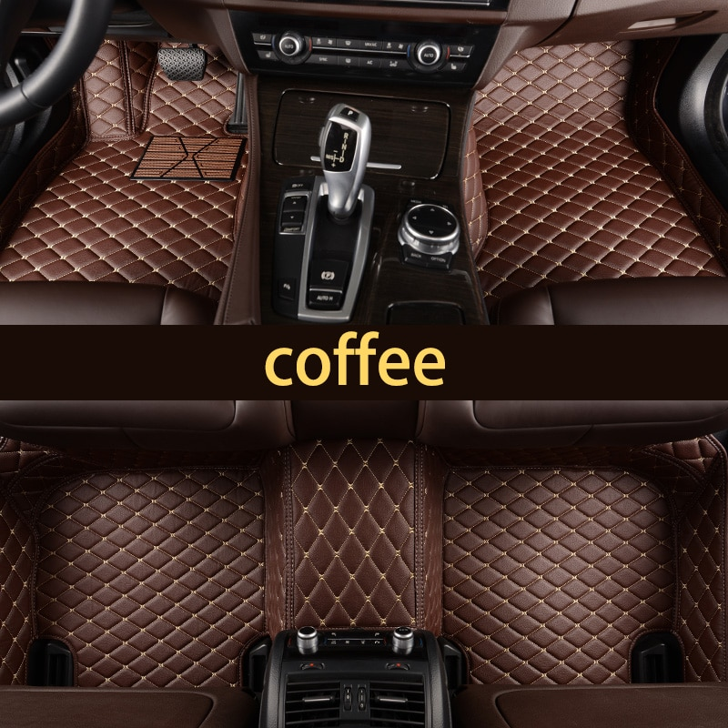 Lsrtw2017 de coche de cuero piso interior mat para bmw f20 f21 116i 118i 120i 114i m135i m140i F22 F87 218i 220i 228i 230i m2 m235i