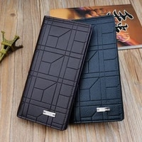 men long wallet long money bags embossed vertical bag soft leather coin purse business square cell phone pocket billetera hombre
