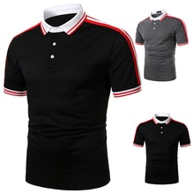 Men's Short Sleeve Shirt Cuff Shoulder with Mixed Colors Men Mixed Colors Men Polo Shirt Brand Polo Man Polo Short Sleeve