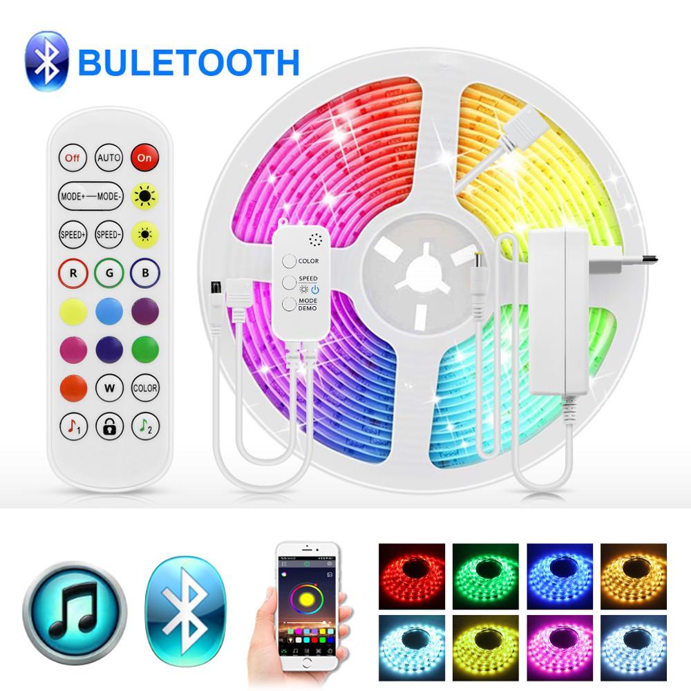 5 м 10 м 15 м Смарт Bluetooth RGB Светодиодные ленты Светодиодные лампы светодиодные ленты гибкая ТВ Подсветка светодиодные светильники с ИК-пульт д...