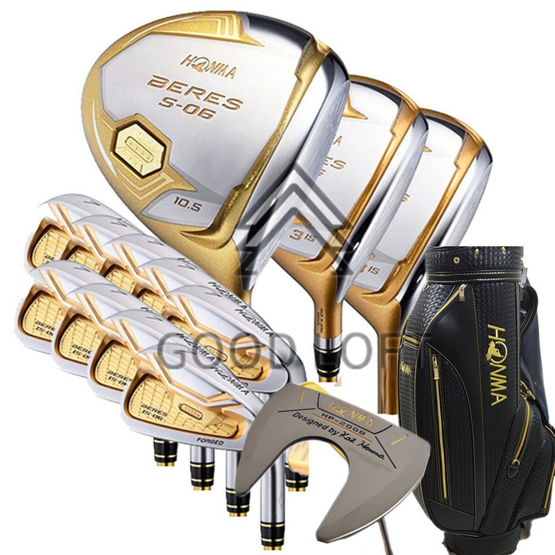 Golf Club S-06 4 star 9.5 or 10.5 drive + fairway wood + irons + putter graphite Flex R S (no bag)  free shipping
