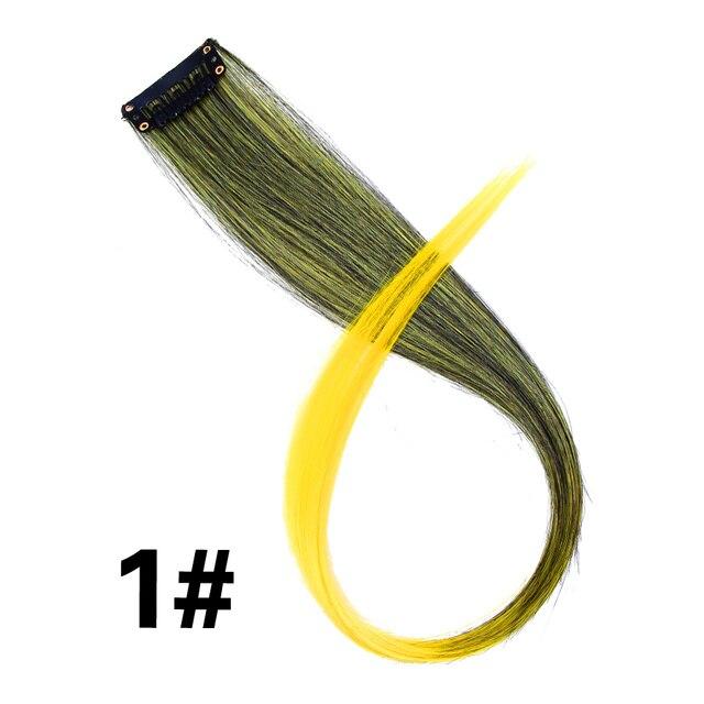 Alileader заколка для наращивания волос, 57 цветов, Омбре, прямые волосы для наращивания, заколки для волос, высокотемпературные детали для волос Faber   Шиньоны и парики   АлиЭкспресс