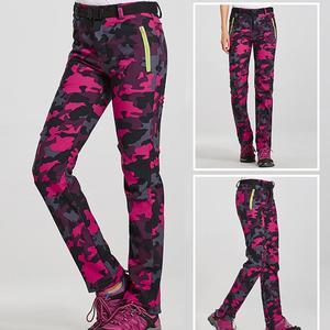 Women's Winter Hiking Pants Outdoor Sports Trousers Quick Dry Mountain/Ski/Trekking Thick Warm Long Trousers Pants Women Fashion