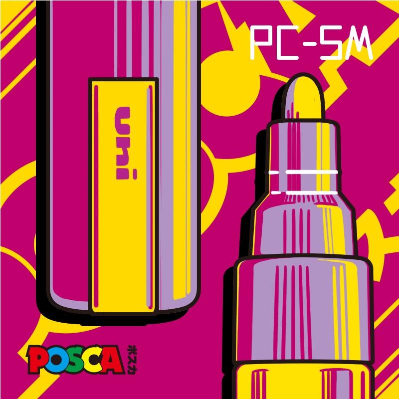 Японские маркеры Uni Posca, 1 шт., средние наконечники для рисования, 1,8-2,5 мм, 17 цветов, для школы, офиса, искусства