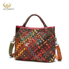 2021 Colorful Quality Leather Famous Luxury Patchwork Large Shopper Purse Handbag Shoulder Bag Women