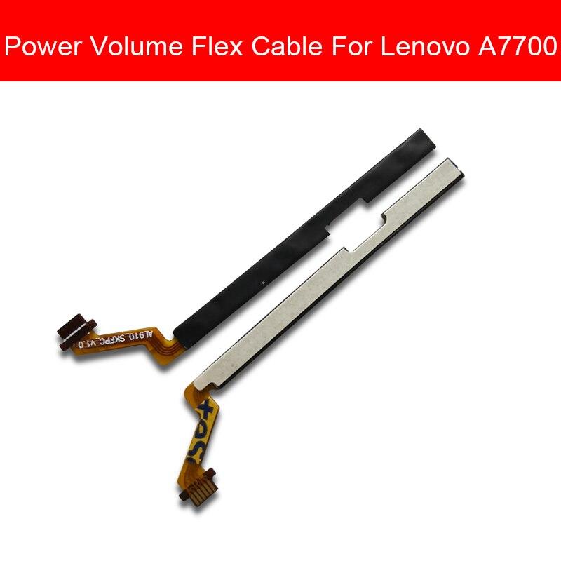 Novo power on fora do cabo flexível para lenovo a7700 interruptor de ligar/desligar botão flex fita cabo volume para baixo controle botão reparação peças