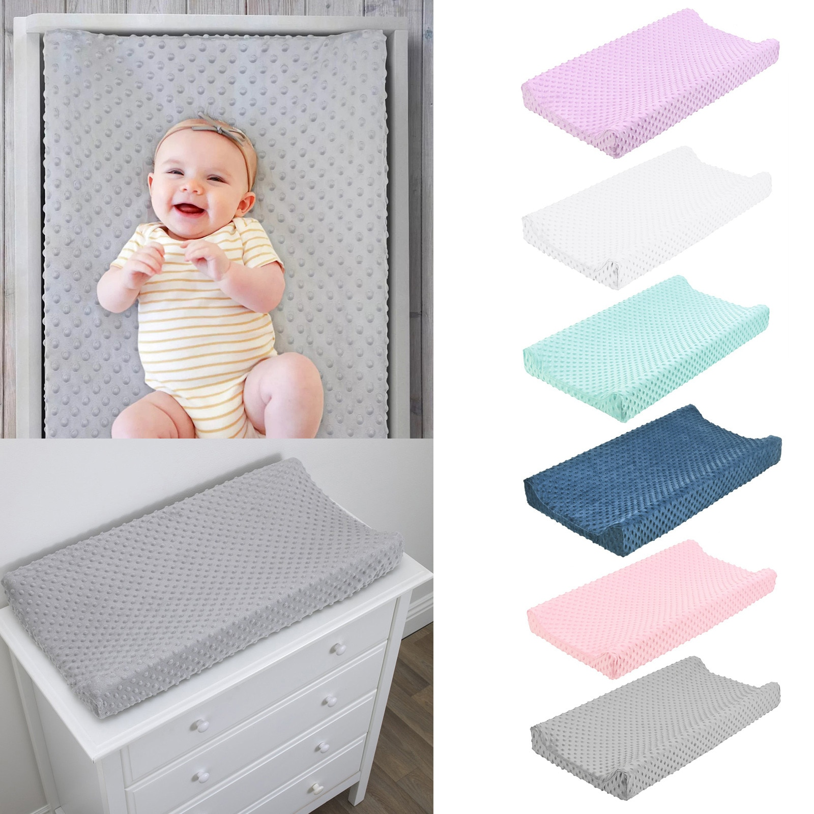 1PC Kids Reusable Diapers Baby Nursery Diaper Changing Pad Cover Changing Mat Cover Solid Children Changing mat