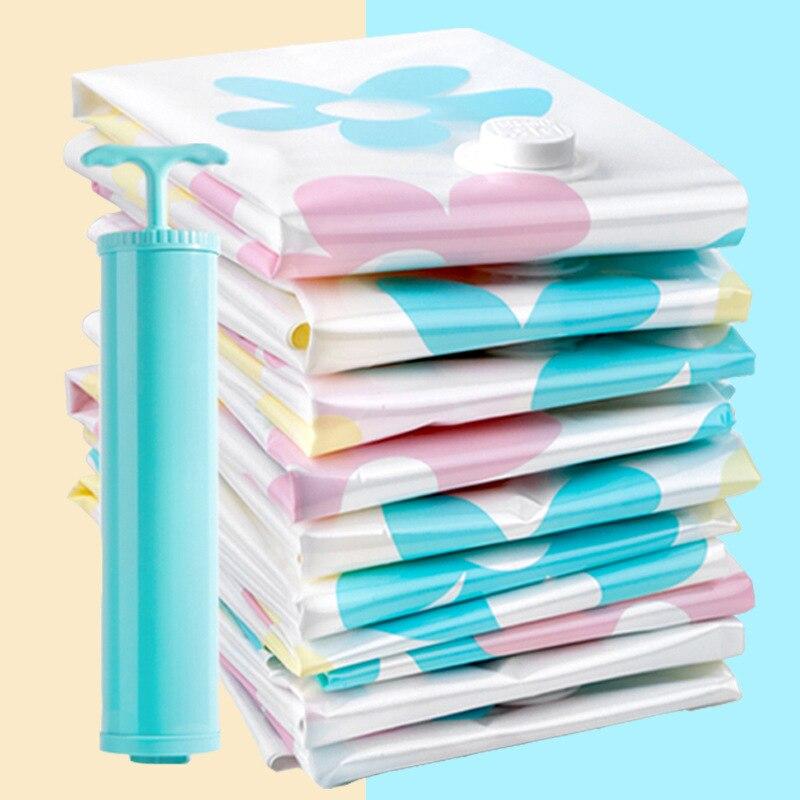 Bedroom Vacuum Compression Bag Send Hand Pump Large Size Air Exhaust Cotton Blanket Clothes Storage Bag Spacious Bag 11-Piece