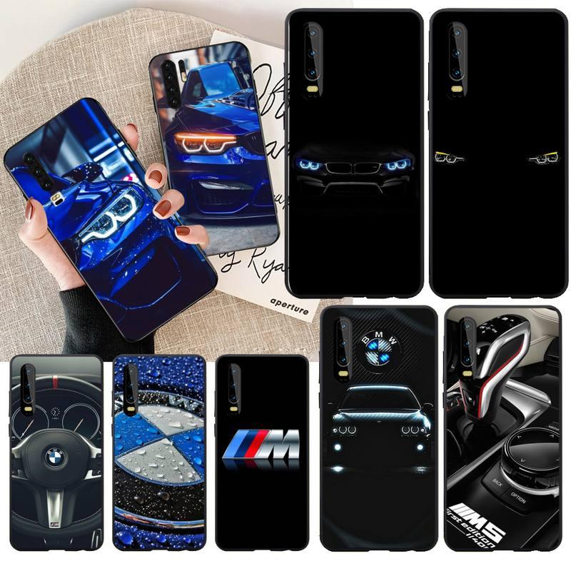 PENGHUWAN, Alemania, BMW, cubierta de funda de teléfono de TPU blanda negra para coche deportivo para Huawei P30 P20 Mate 20 Pro Lite Smart Y9 prime 2019