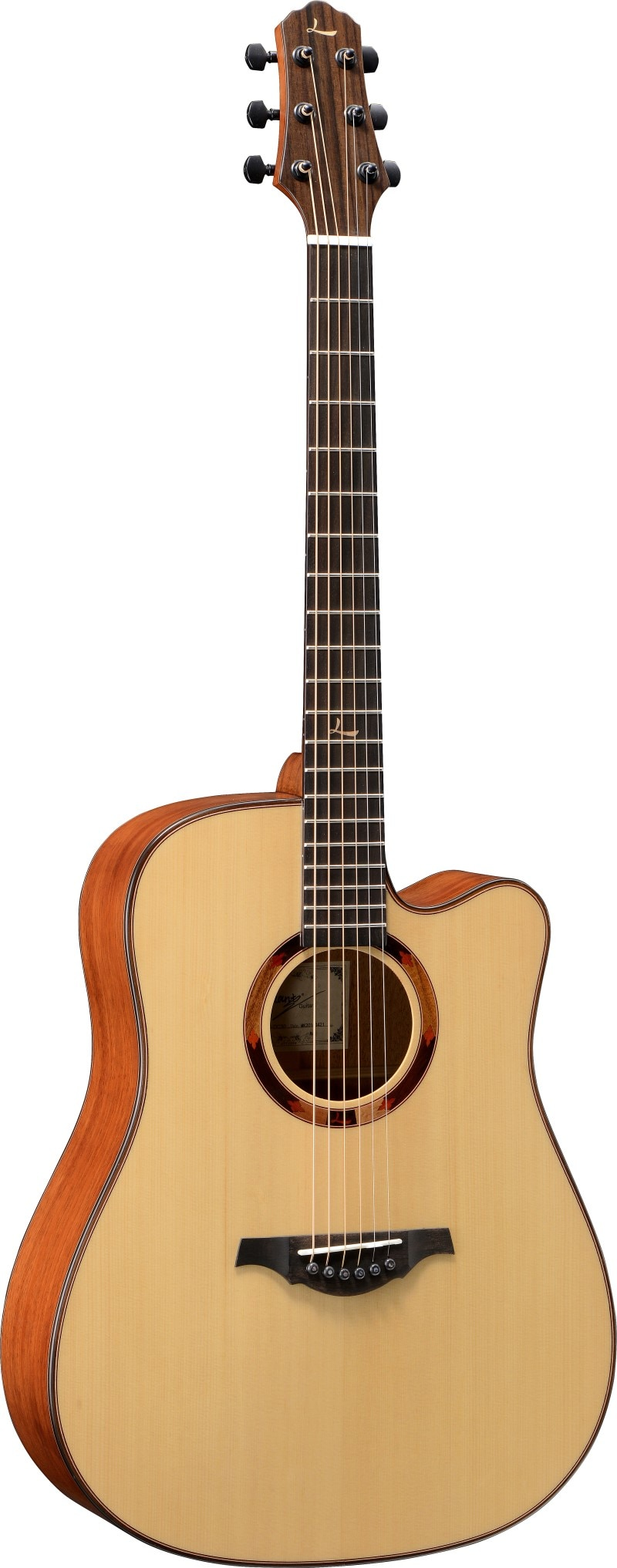 LeChant LS-DC30 Cutaway Solid Spruce Top Acoustic Guitar with Mahogany Back And Sides 41 Inches Guitarra for Practice enlarge
