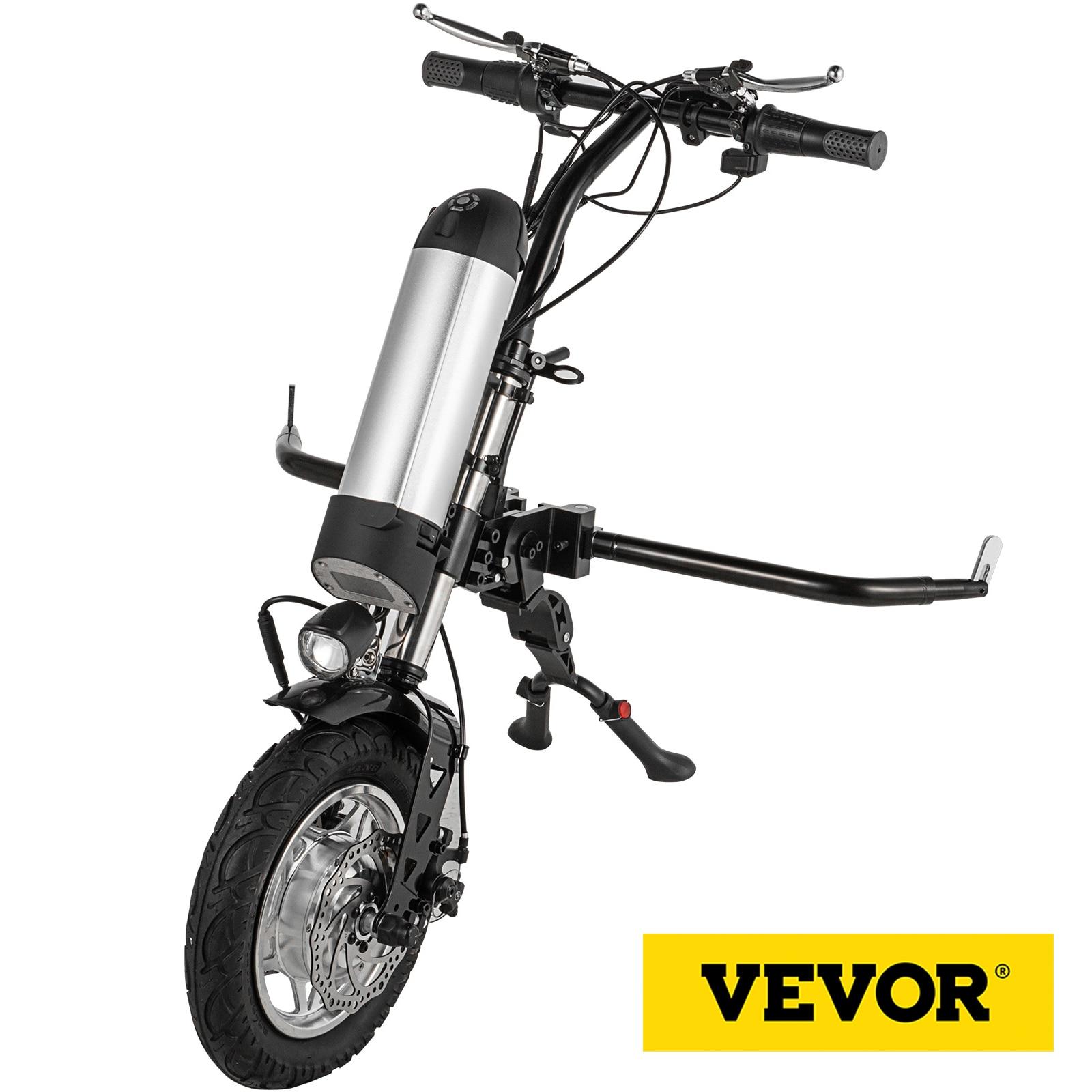 VEVOR 350 واط الكهربائية كرسي متحرك تحويل عدة جرار شاشة الكريستال السائل 36 فولت بطارية 10.4AH موتور عجلة الكهربائية كرسي متحرك Handcycle
